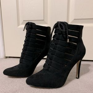 Black Lace Up Ankle Boot